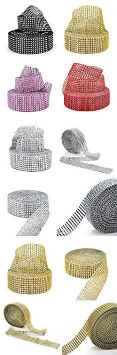 "Cheap Plastic Cake Stands. Aspire Silver Rhinestone Ribbon, Diamond Rhinestone Mesh Ribbon, 1.5"" x 10 Yards, 8 Rows, 1 Roll - Golden.  #cheap #plastic #cake #stands #cheapplastic #plasticcake #cakestands"