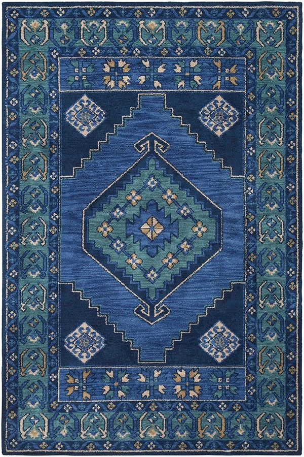 Surya Arabia Medallion Area Rugs Medallion Rug Navy Rug Teal Area Rug