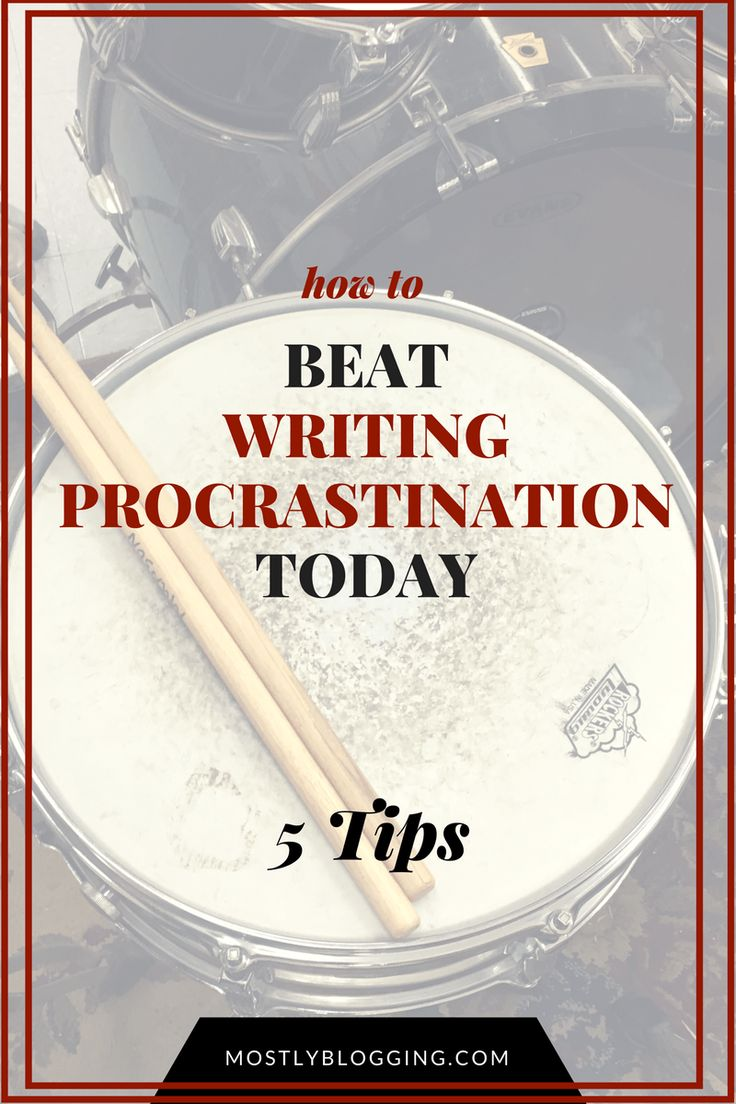 How #writers can beat #writing procrastination