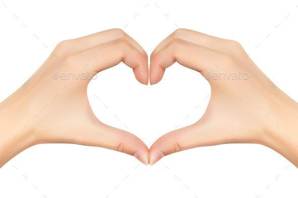 Pictures Of Hands Making A Heart