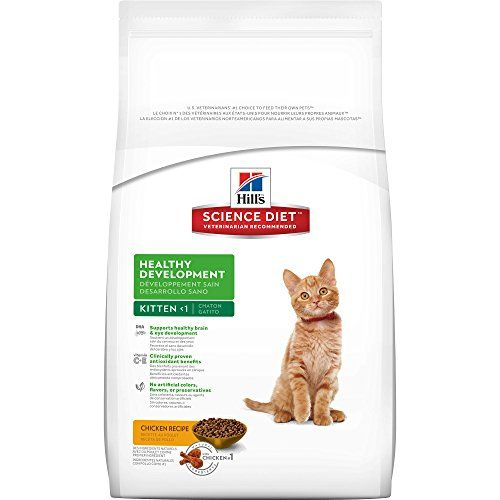 Hill's Science Diet Kitten Healthy Development Chicken Recipe Dry Cat Food, 7 lb bag - Your kitten's first year is so important. Not only is it a time to bond with you and become a valued member of your family, it's also a period of rapid growth, frisky fun and exploring her world. Be sure she starts off on the right paw with Hill's Science Diet Healthy Develop...