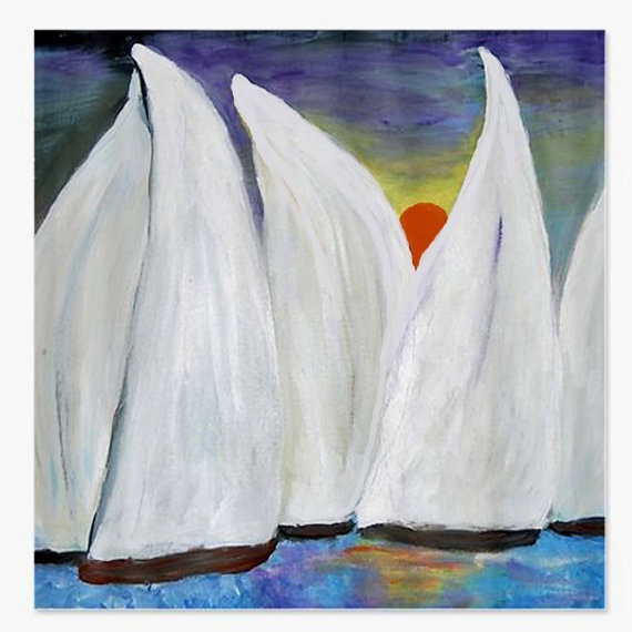 regatta sunset sailboats nautical art shower curtain by maremade