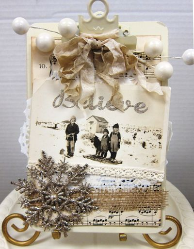 Believe altered clipboard by Paradise Scrapbook Boutique in Chico, CA.