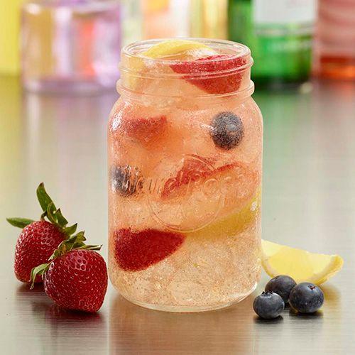 Meet the SANGRIA ROSA - sing along to the sweet tastes of blueberry, strawberry and lemon tastes of the Sangria Rosa! Now creating sweet melodies in the cafe! #ThisIsHardRock #MasonJar #Summer