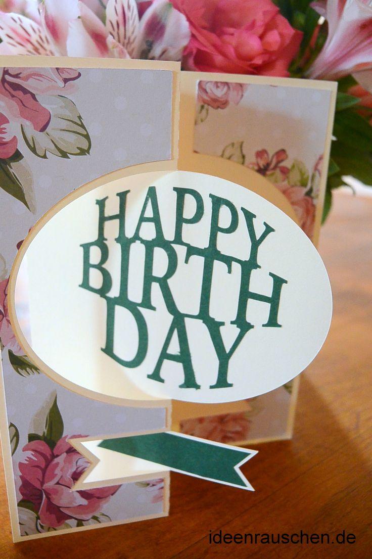 Happy Birthday Klappkarte