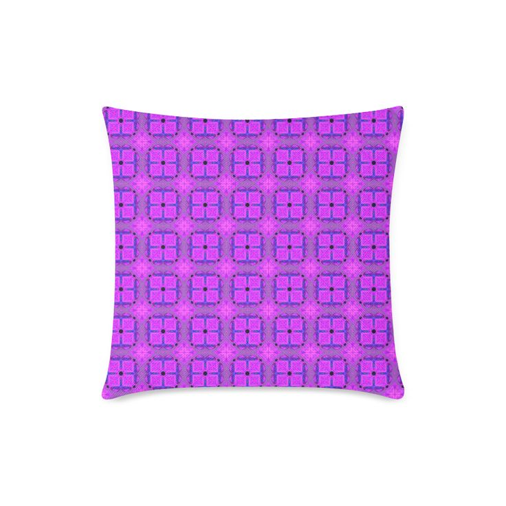"Abstract Dancing Diamonds Purple Violet New Linen Pillow Case Pillow Inner Included 18""x18"""