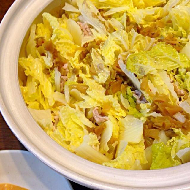白菜がドンドン食べれます*\(^o^)/* - 3件のもぐもぐ - 白菜と豚バラ肉の味噌だれ鍋 by fuki1966hanauta