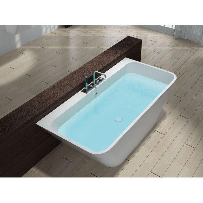 Bildergebnis für freistehende badewanne eckig