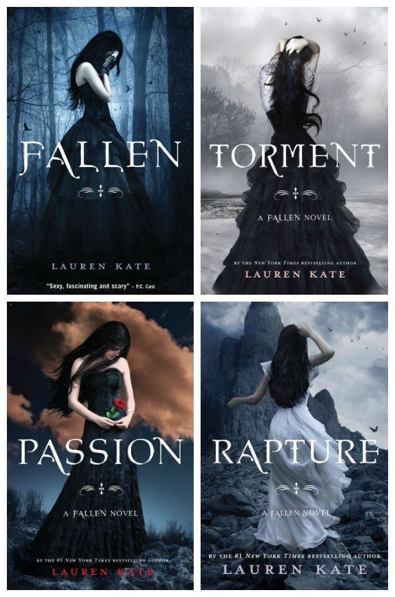 Fallen Series by Lauren Kate - Captivating covers (except Passion-weird face art blip occuring) but a flimsy series lacking in continuity and consistancy.