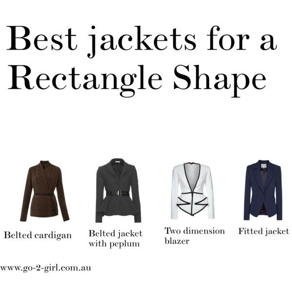 """Best jackets for a Rectangle Shape"" by go-2-girl on Polyvore"