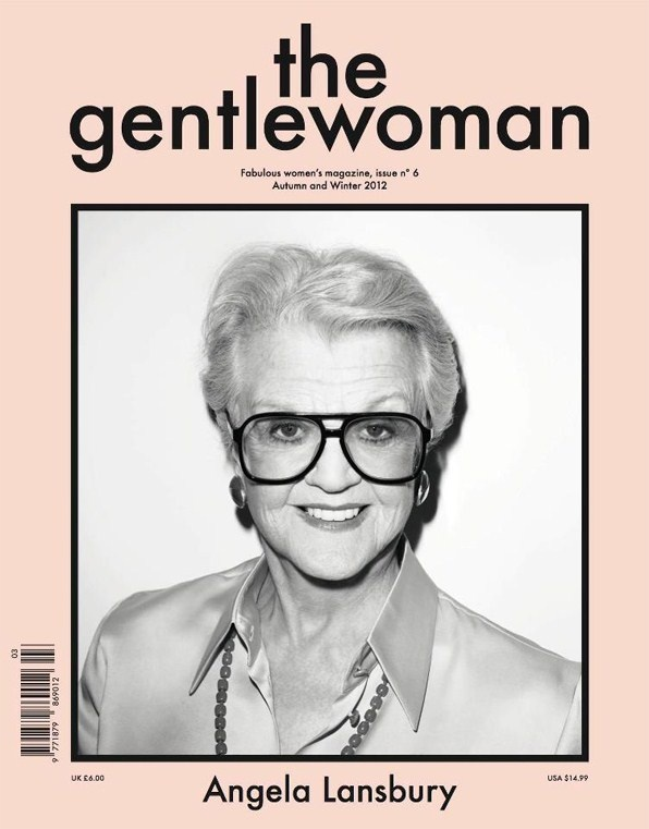 angela lansbury by terry richardson (the gentlewoman cover)