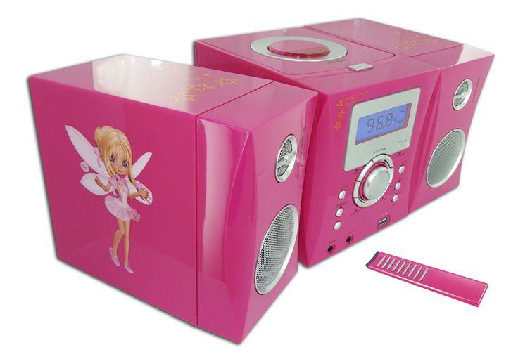 Micro Hi-Fi Radio / CD/ MP3 / USB  (Motivo FAIRY). Da Bigben Interactive. Ulteriori informazioni qui: http://www.bigbeninteractive.it/produit/produit/id/8100