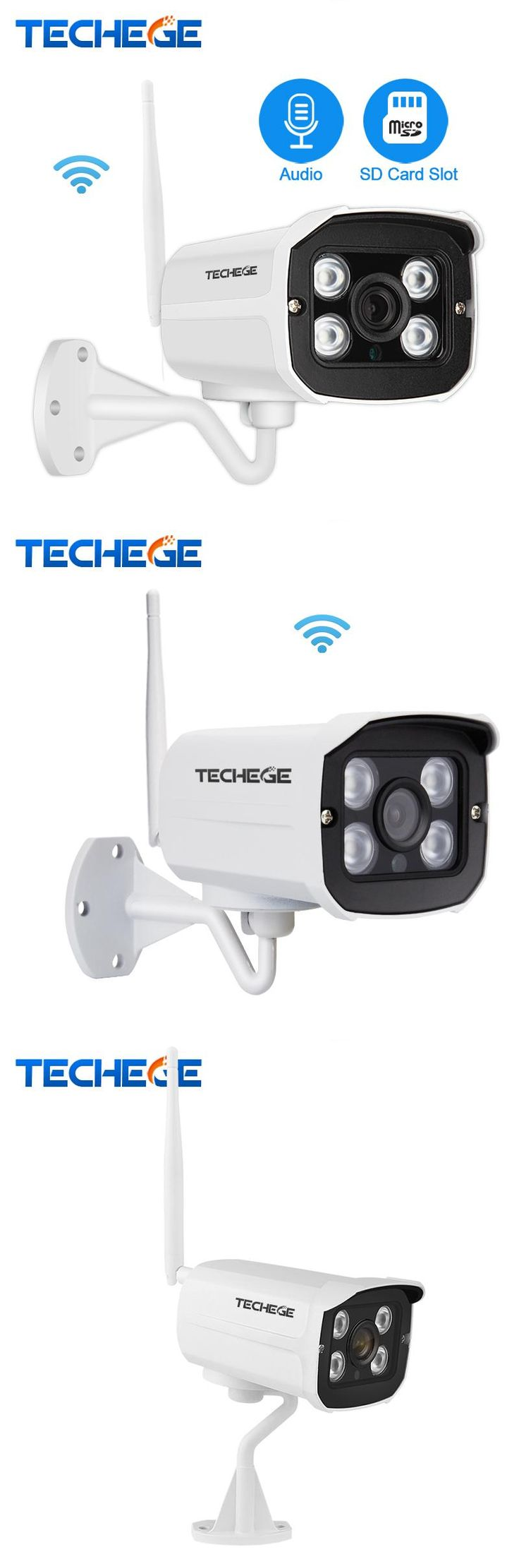[Visit to Buy] 2.0MP Audio Record Wifi Wired Security Camera Waterproof nignt vision 960P 720P wireless camera Motion Detection SD Card Slot #Advertisement