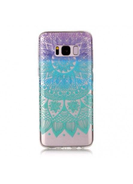 Coque Samsung Galaxy S8 Mandala Fleur Colore Make My Phone