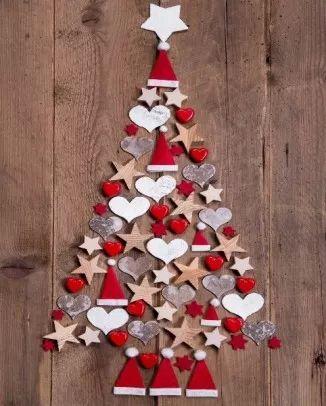 DIY decoración navideña con fieltro y cartulinas                                                                                                                                                                                 Más