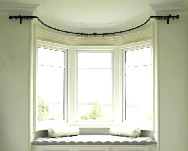 Curved Curtain Rod For Arch Window Fascinating Curved Curtain Rod