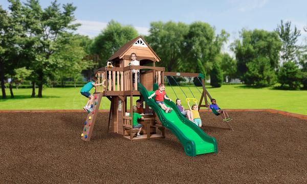 Mount Triumph Wooden Swing Set
