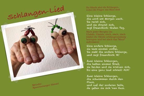 Eine kleine Schlange macht ganz große Augen – oder – Perlenaugen für Fingerspiele | Lilamalerie.de