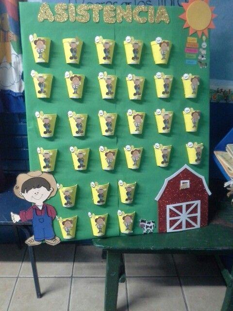 Grafica de asistencia actividades para preescolar for Asistenciero para jardin de infantes