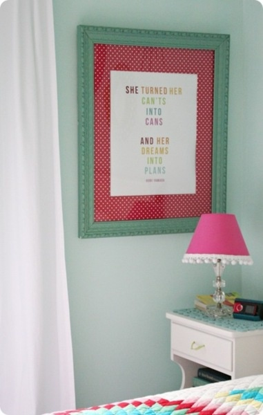 gardenviewcottage:    (via 320 * Sycamore: how to turn big framed prints into personalized art): Wall Art, Wrapping Papers, Frames Prints, Girls Quotes, Scrapbook Rooms, Wraps Paper, Framed Prints, Girls Rooms, Girl Rooms