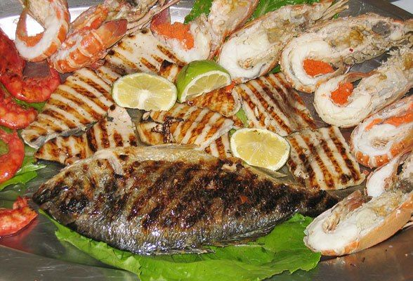 sea grilled fish