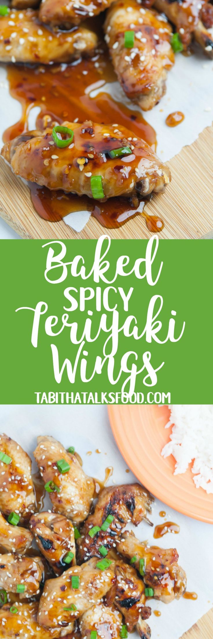 These spicy teriyaki chicken wings are made with a homemade teriyaki sweet and spicy sauce. They are baked in the oven and make an easy no fuss dinner!