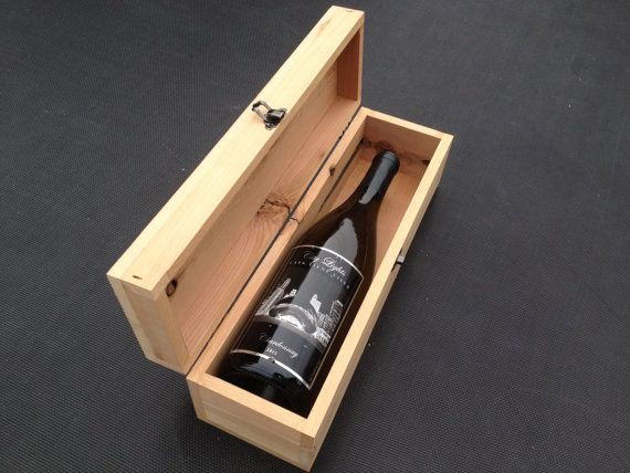 Thoughtful Bridesmaid Gift Handmade wooden wine box with your personal message. www.etsy.com/shop/thinkeco2