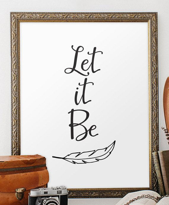 Let It Be Wall Art Inspirational Art Beatles by TwoBrushesDesigns #letitbe
