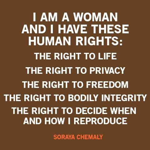 women rights. Stop objectifying and degrading women! We have the right to be in control of our own body and make our own choices.