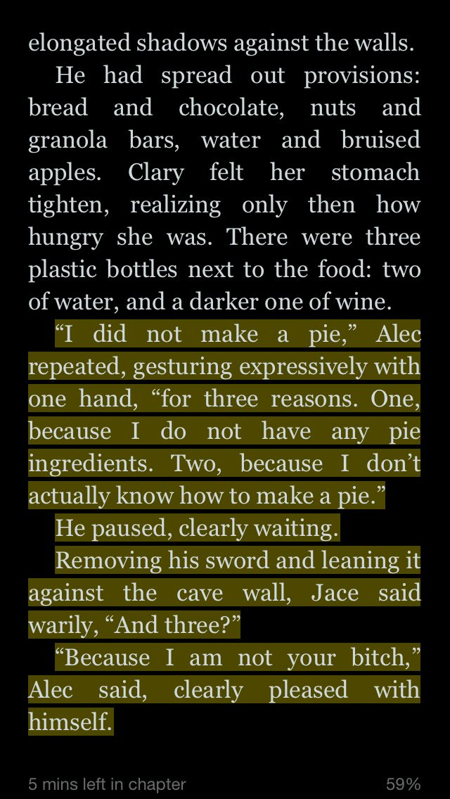 City of Heavenly Fire by Cassandra Clare Fairly certain this was my favorite Alec scene of all time XD