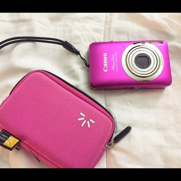 Pink Canon Camera PowerShot ELPH MP Digital Brand: Canon Type: Point & Shoot Sensor size: Compact Sensor Resolution: 12.1 megapixel Sensor type: CMOS Optical zoom: 4 x optical zoom (charger not included) Canon Other