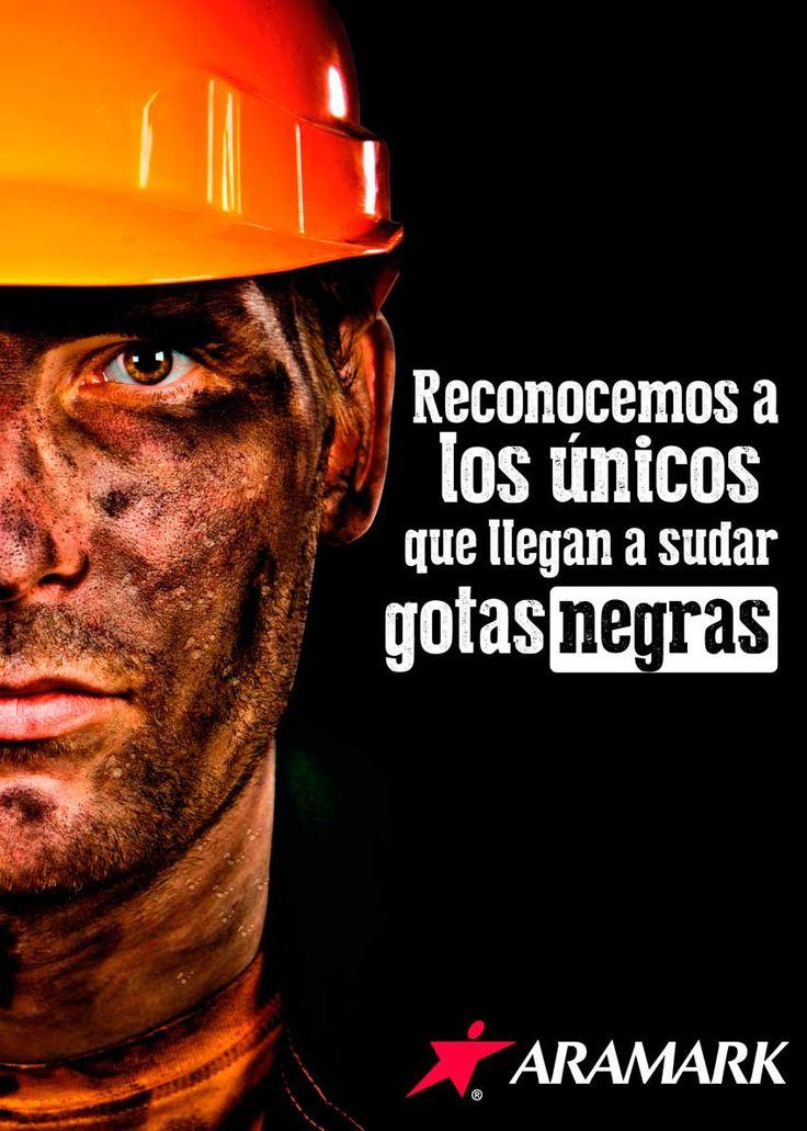 Afiche día del minero Aramark. Diseño y Redacción.