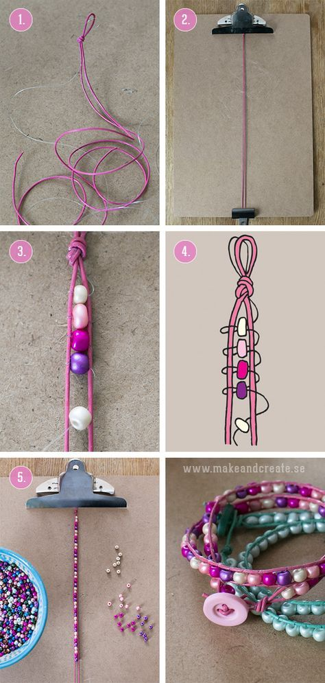 Hur du gör ett wraparmband - Pyssel & pysseltips - Make & Create