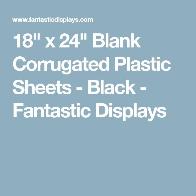 "18"" x 24"" Blank Corrugated Plastic Sheets - Black - Fantastic Displays"