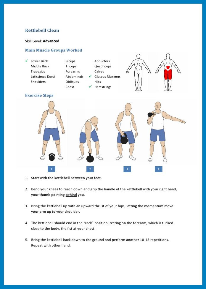 Ultimate Kettlebell Workout – Kettlebell Clean