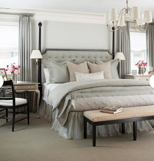 So Restful Love Tufted Headboards Lucious Bedrooms Pinterest Writing Desk And