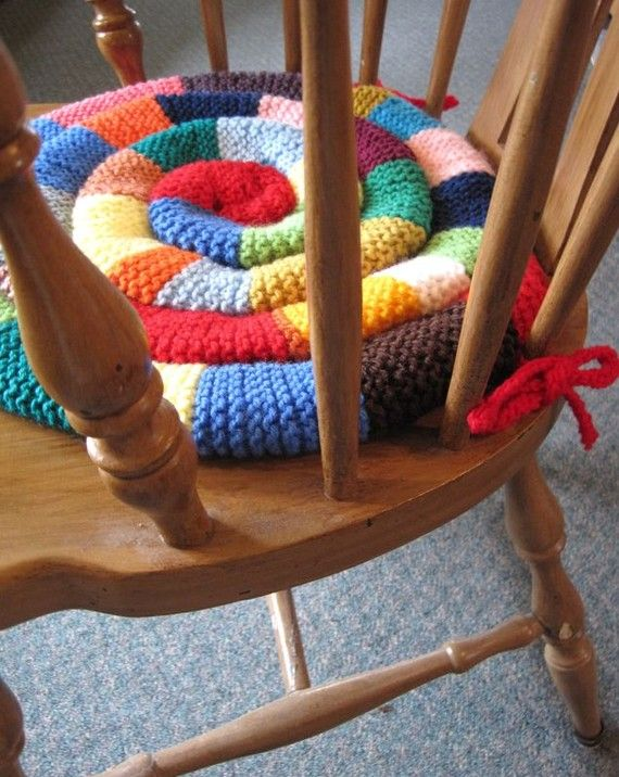 Pattern  Knitted Chair Pad PDF Pattern  DIY Rocking by WaveSong