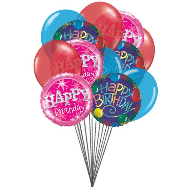 Birthday Greeting Balloons 6 Mylar Latex Send This Beautifull To Your Special Person In Life