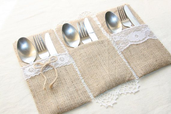Hey, I found this really awesome Etsy listing at https://www.etsy.com/listing/226330835/burlap-silverware-holders-table-decor
