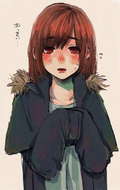 Hinami wearing Ayato's hoodie/jacket <333