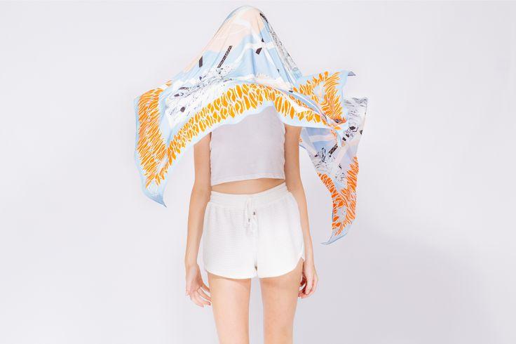 Tian silk scarves. Retail at $269 buy online http://www.tianstudios.com/