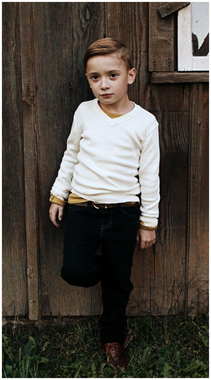 @Frank Burder & Lu vneck sweater, layering tee, messenger jeans #boysfashion #style #nyc #boys #tees