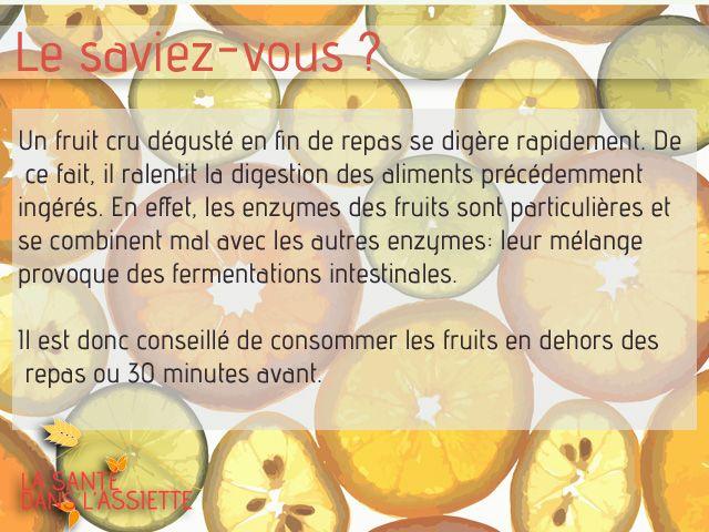 Le saviez-vous? Fruits