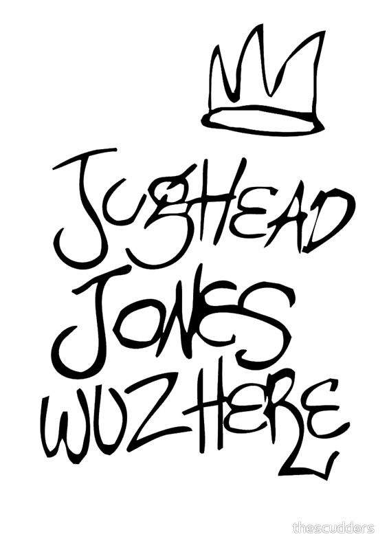 760ab7f11b7 Jughead Jones Wuz Here  Poster by thescudders