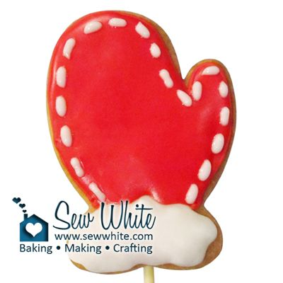 Christmas Mitten Biscuit Pops | Sew White