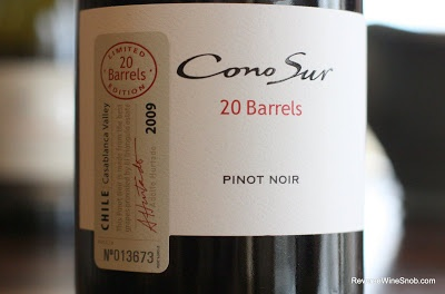 Cono Sur 20 Barrels Pinot Noir 2009 - A Special Treat From Chile. $22 (Saturday Splurge) http://www.reversewinesnob.com/2012/10/cono-sur-20-barrels-pinot-noir-2009.html