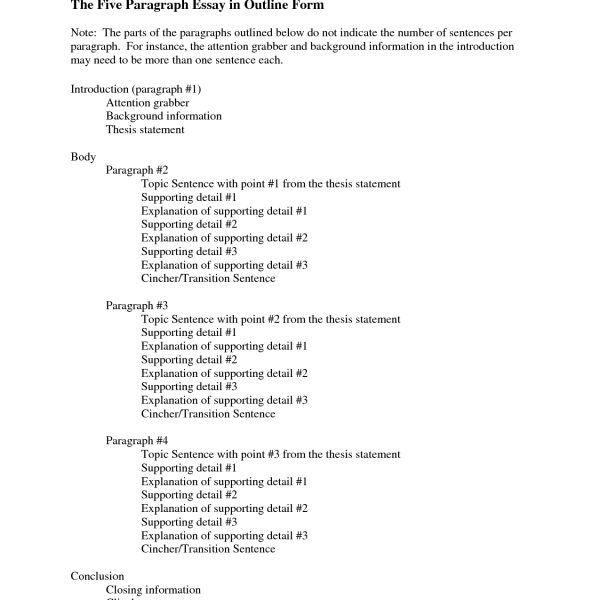 Sample 5 Paragraph Essay Outline Essay Outline Essay Outline