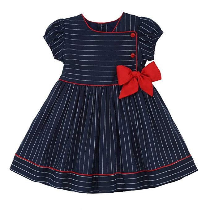 Amazon Com Marakitas Toddler Girl Sailor Dress Navy Summer Party Special Occasion 12 Months C Girls Frock Design Baby Frocks Designs Kids Frocks Design