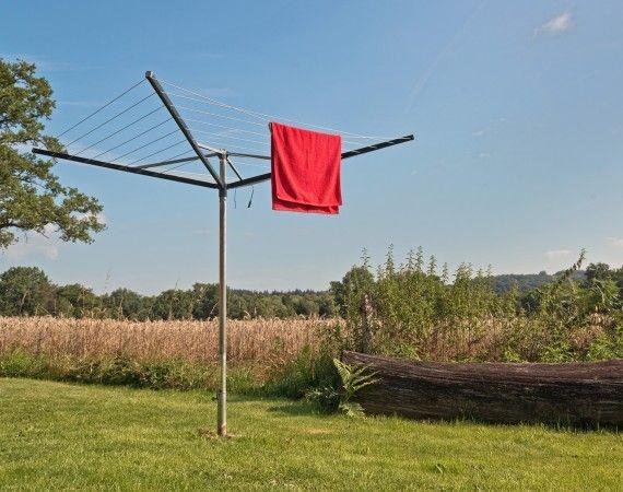 Einbetonierte Waschespinne Im Garten Wind Turbine Deck Carport