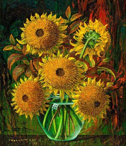 Sunflowers, Vladimir Tretchikoff
